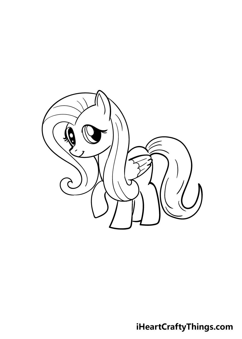 my little pony drawing step 7