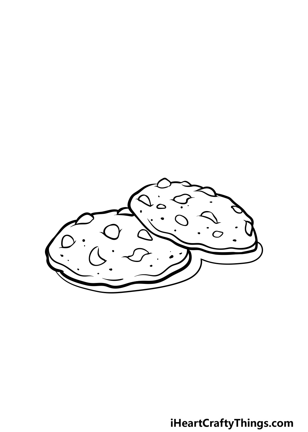 drawing a cookie step 7