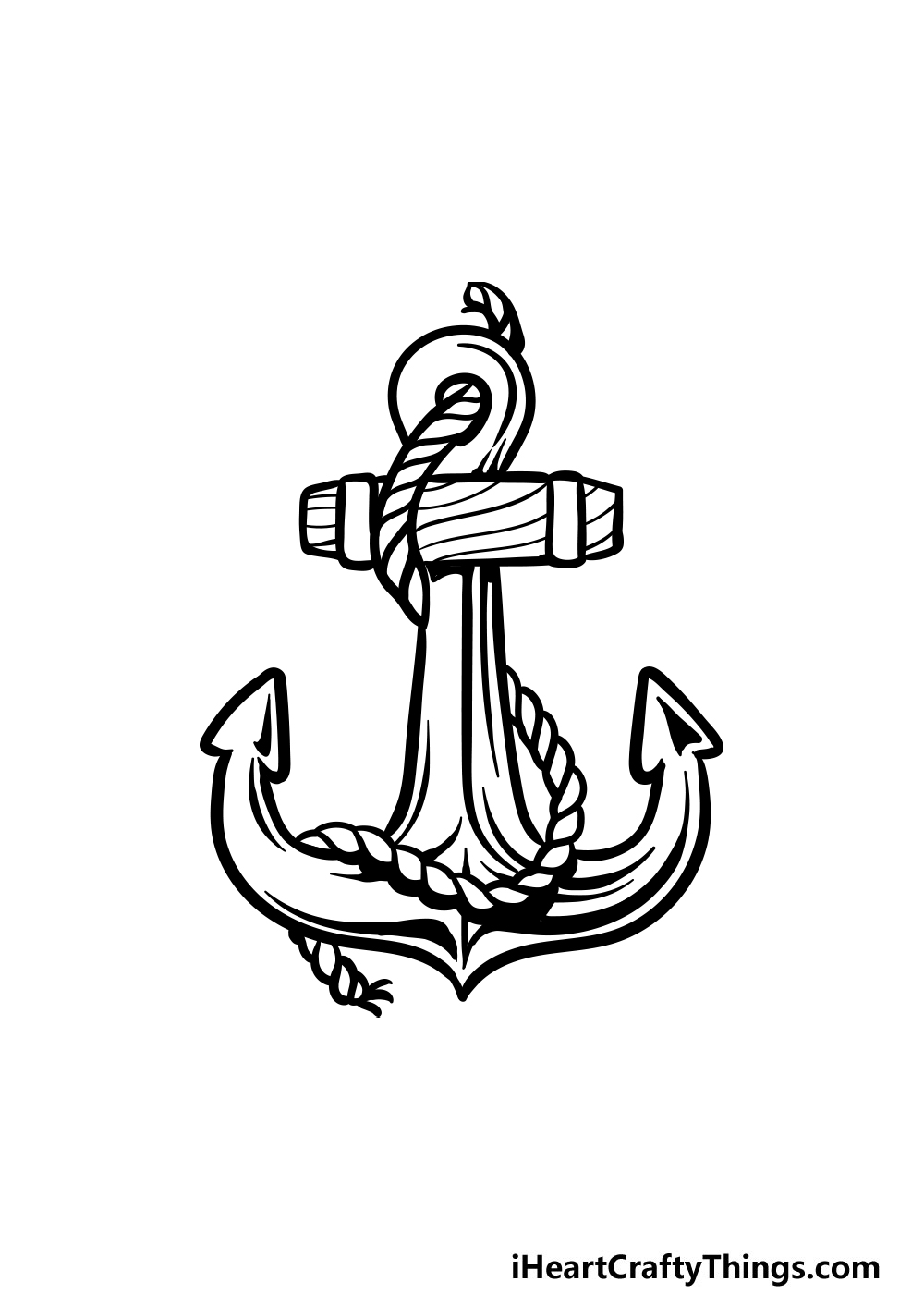 drawing an anchor step 7