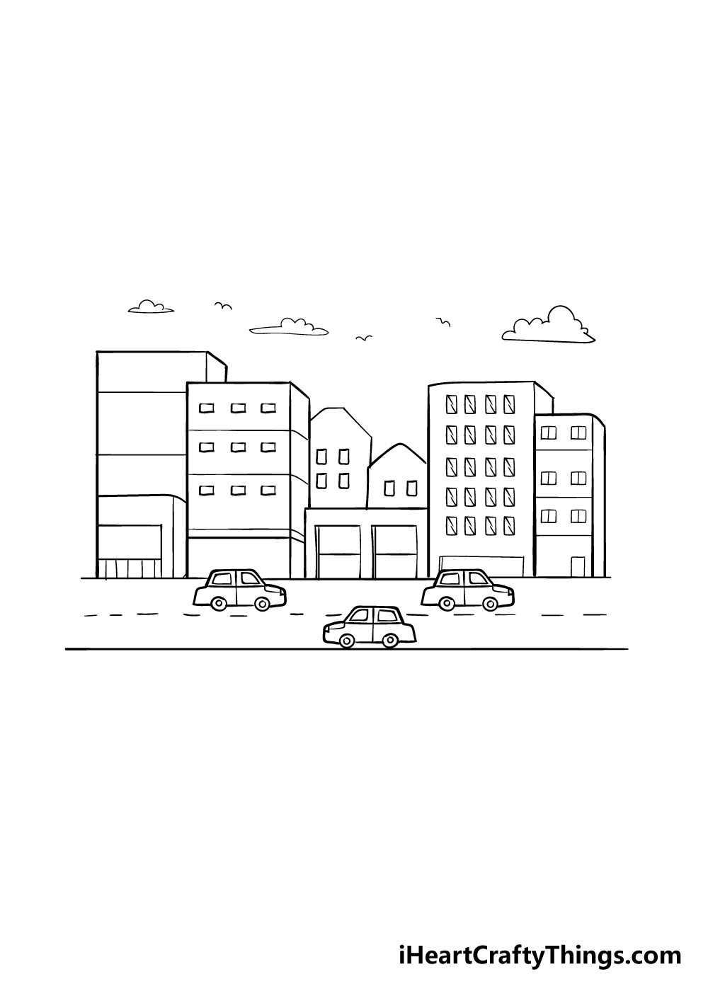 drawing a city step 7