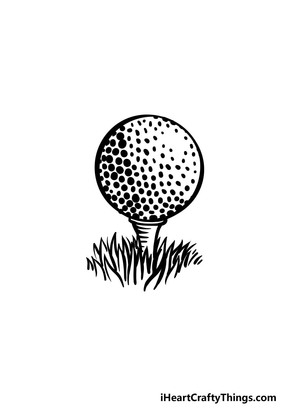 drawing a golf ball step 7