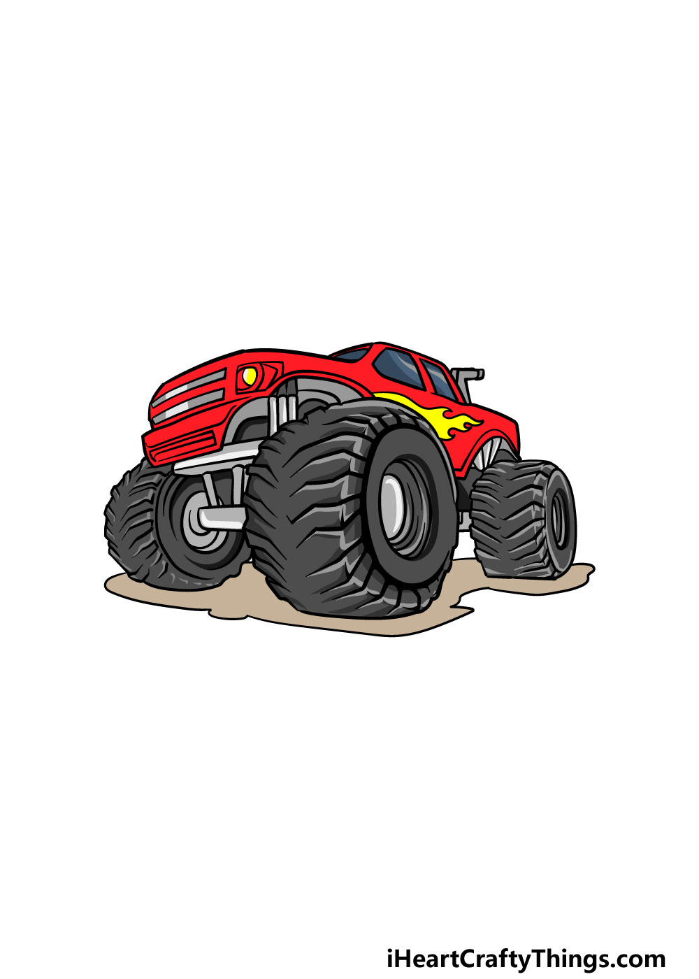 drawing a monster truck step 7