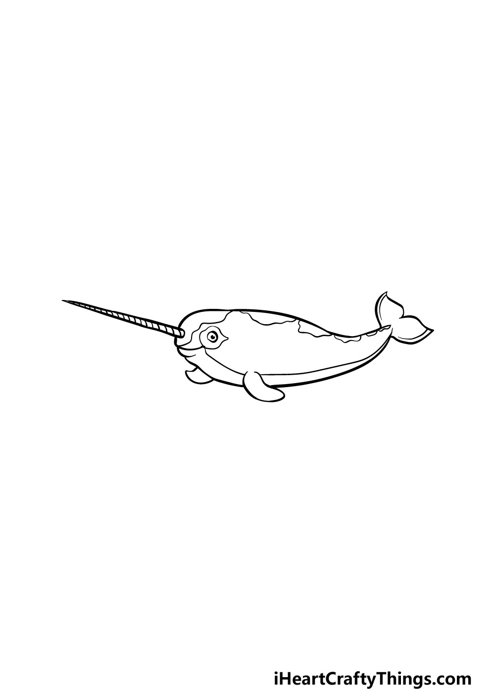 drawing a narwhal step 7