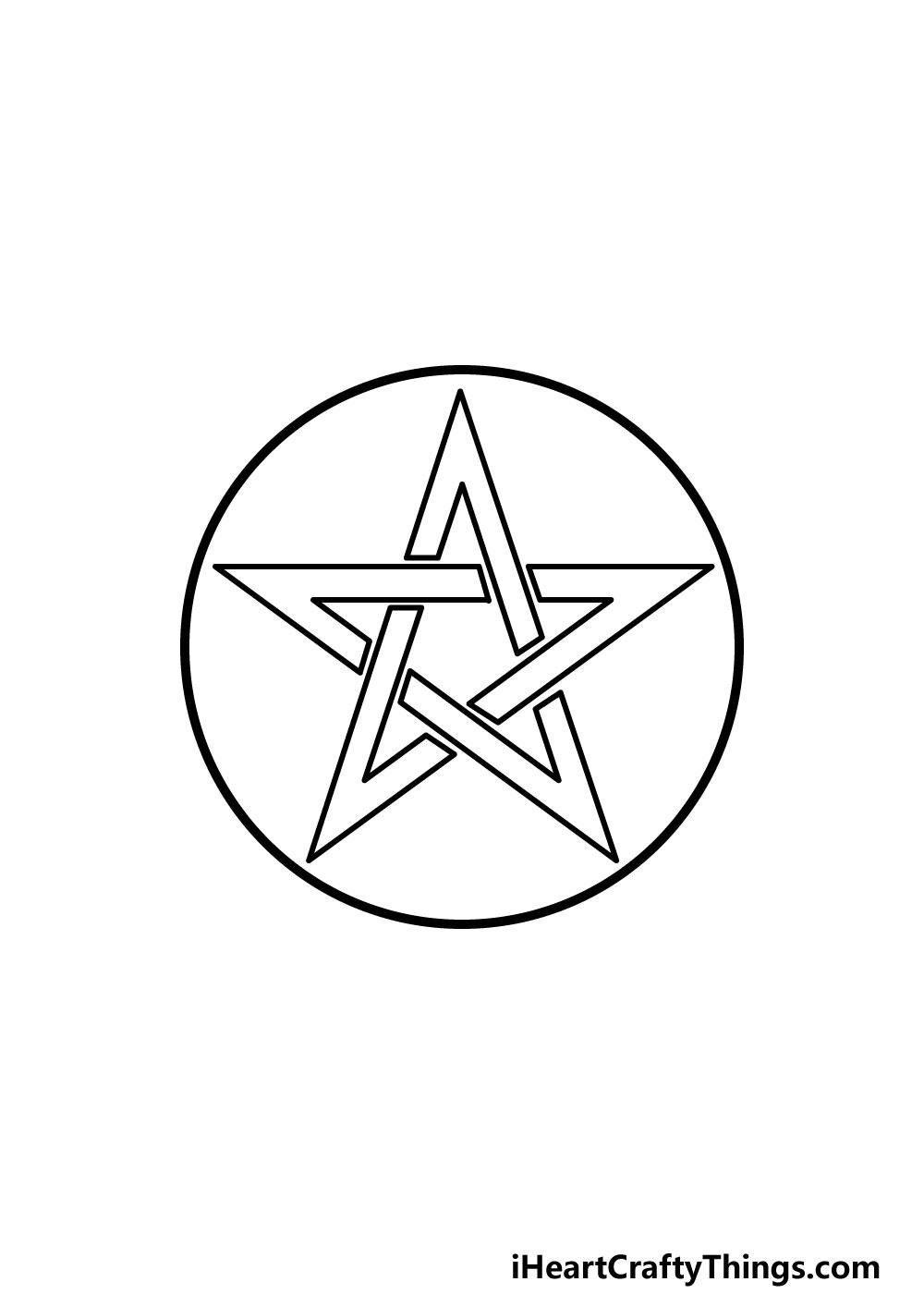 drawing a pentagram step 7