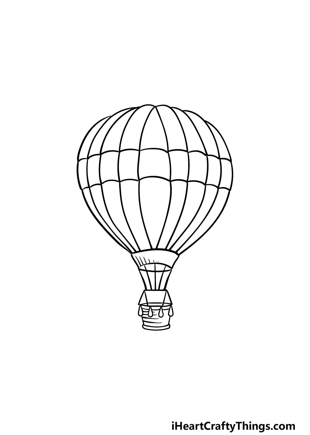 drawing a hot air balloon step 7