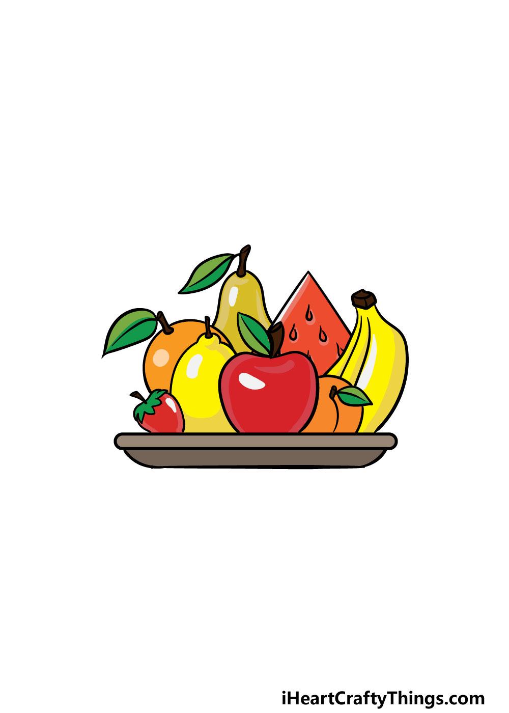 drawing fruits step 7