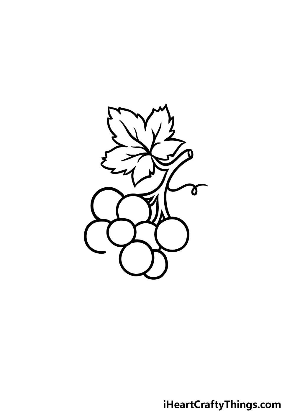 drawing grapes step 7