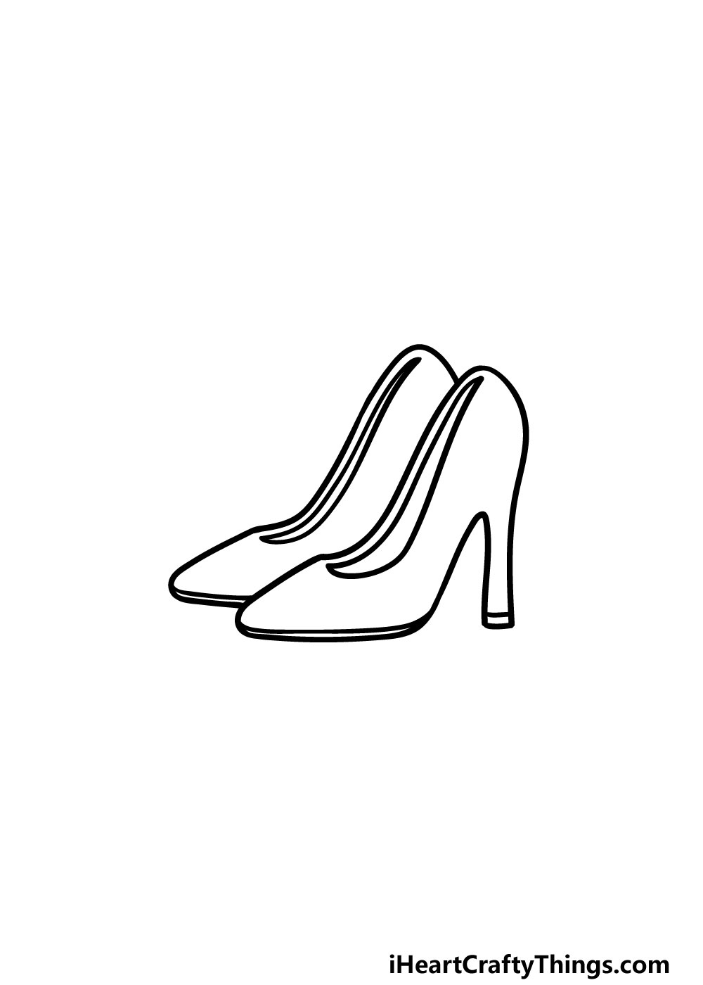 drawing high heels step 7