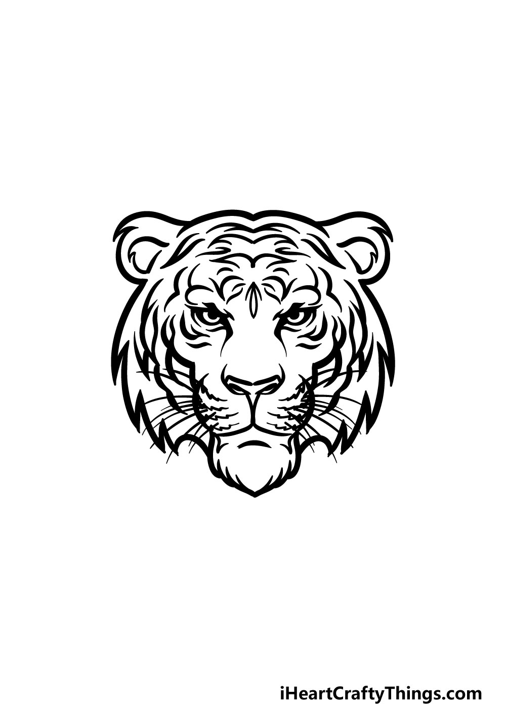 drawing tiger face step 7