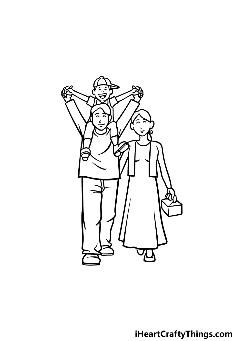 drawing a family step 7