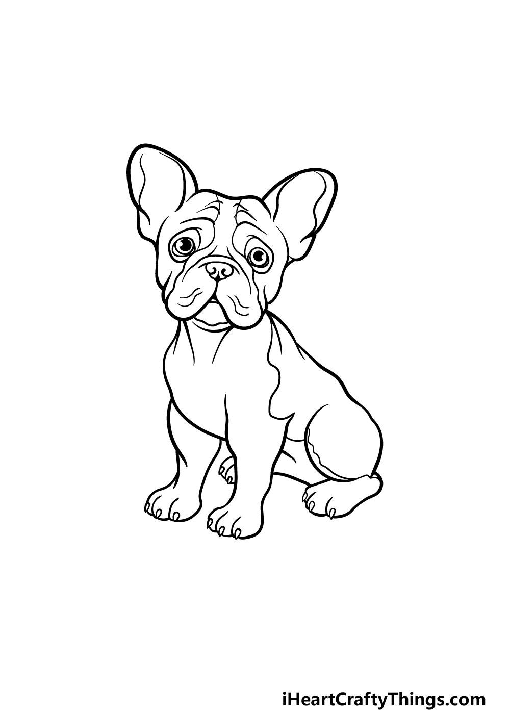 drawing a french bulldog step 7