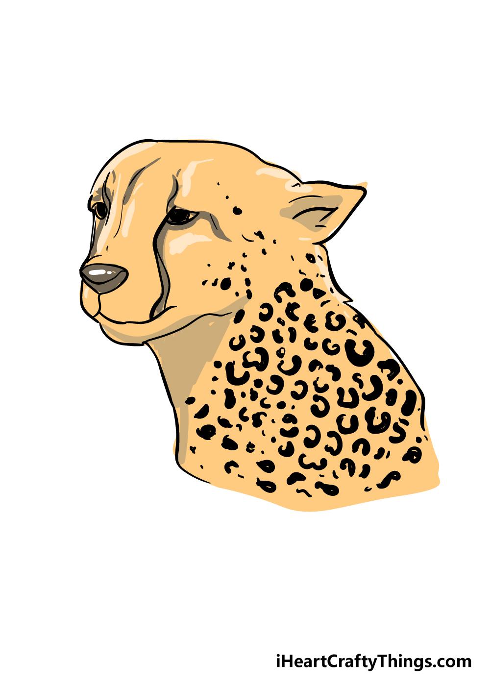 cheetah print drawing step 7
