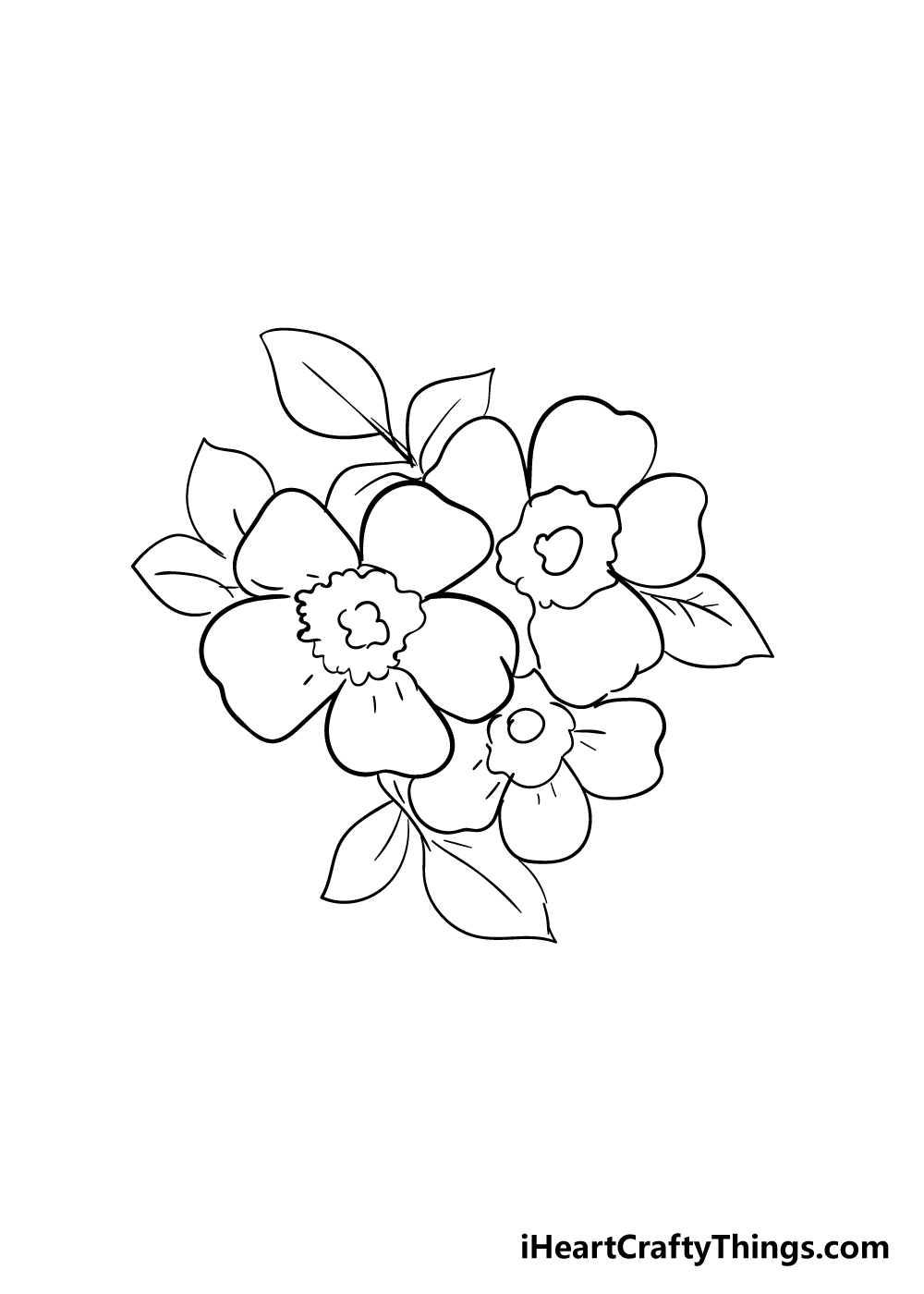 cherry blossoms drawing step 7
