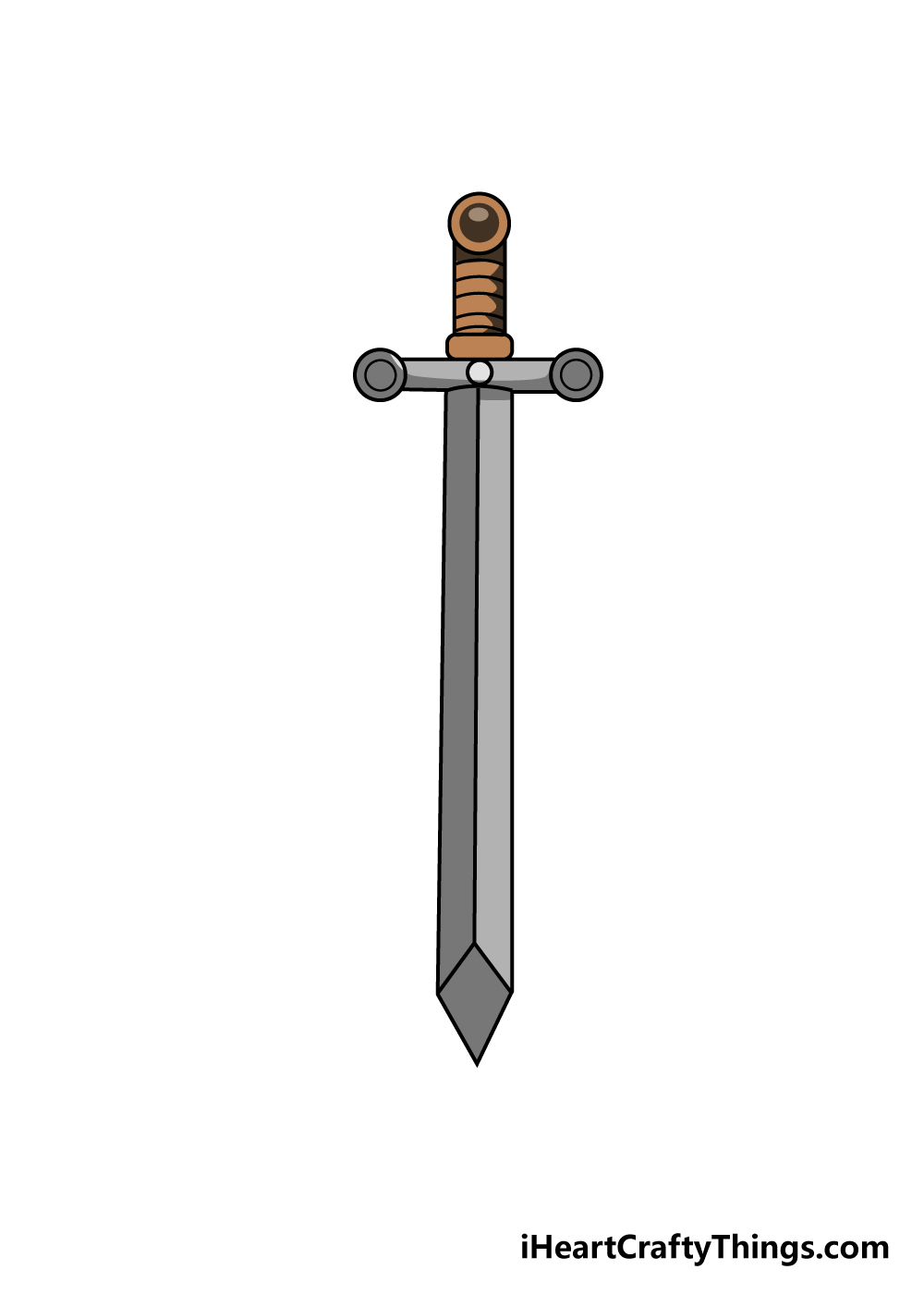 sword drawing step 7