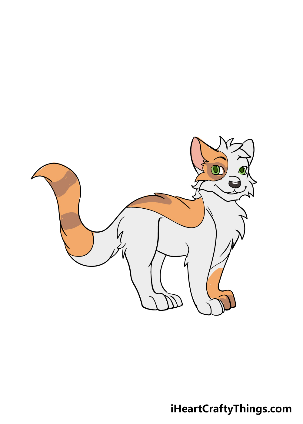 warrior cats drawing step 8