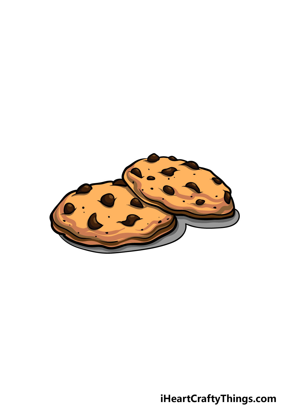 drawing a cookie step 8