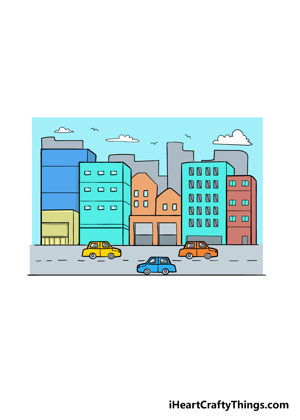 drawing a city step 8