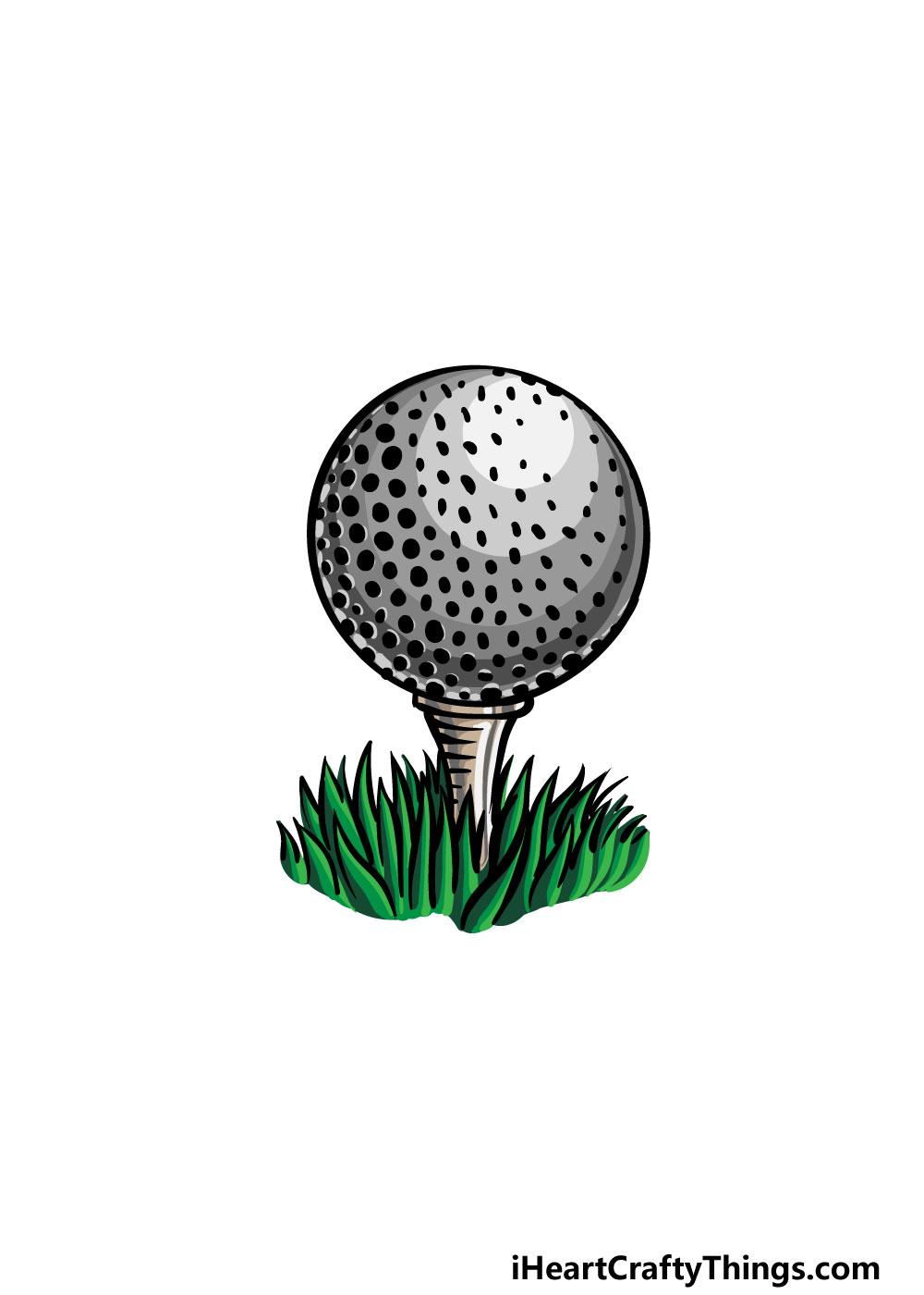 drawing a golf ball step 8