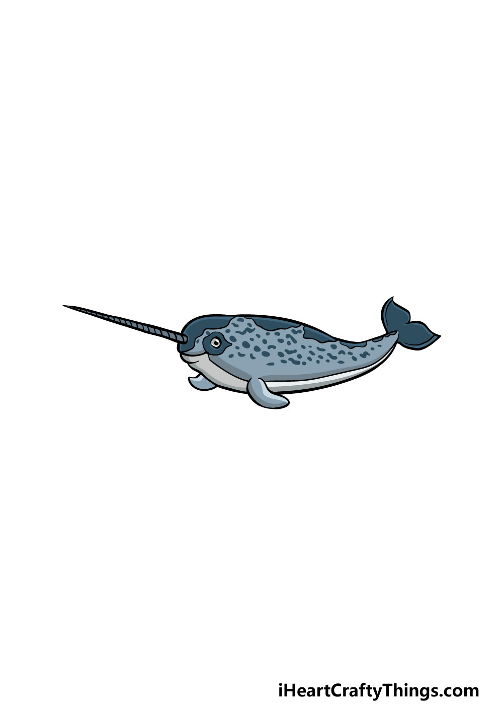 drawing a narwhal step 8