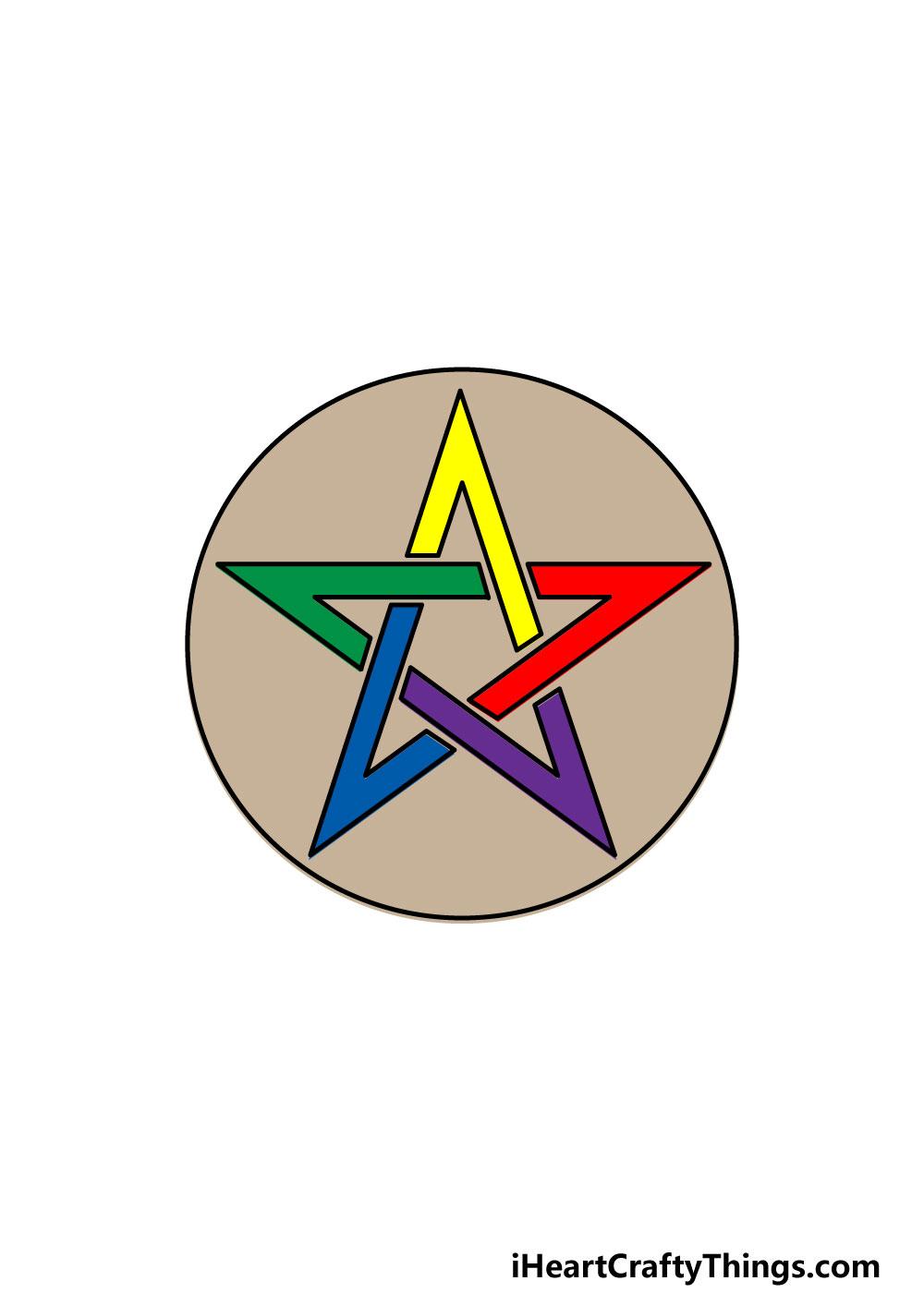 drawing a pentagram step 8