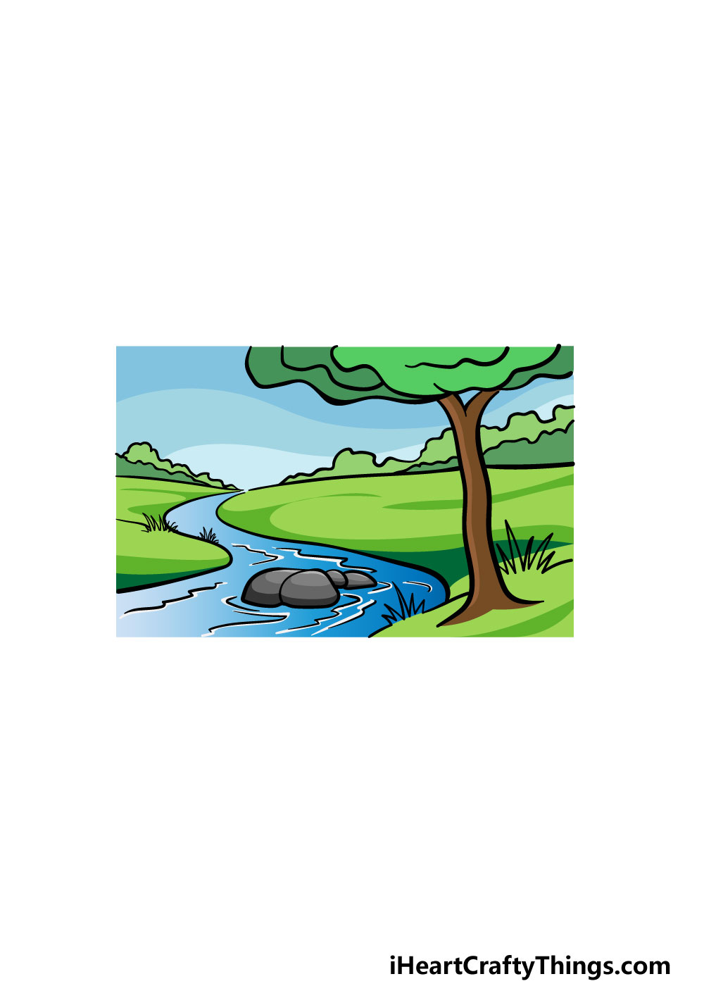 drawing a river step 8