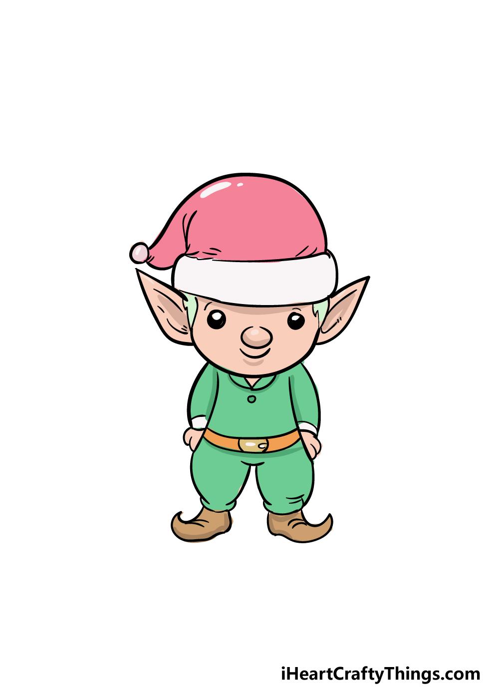 elf drawing step 8