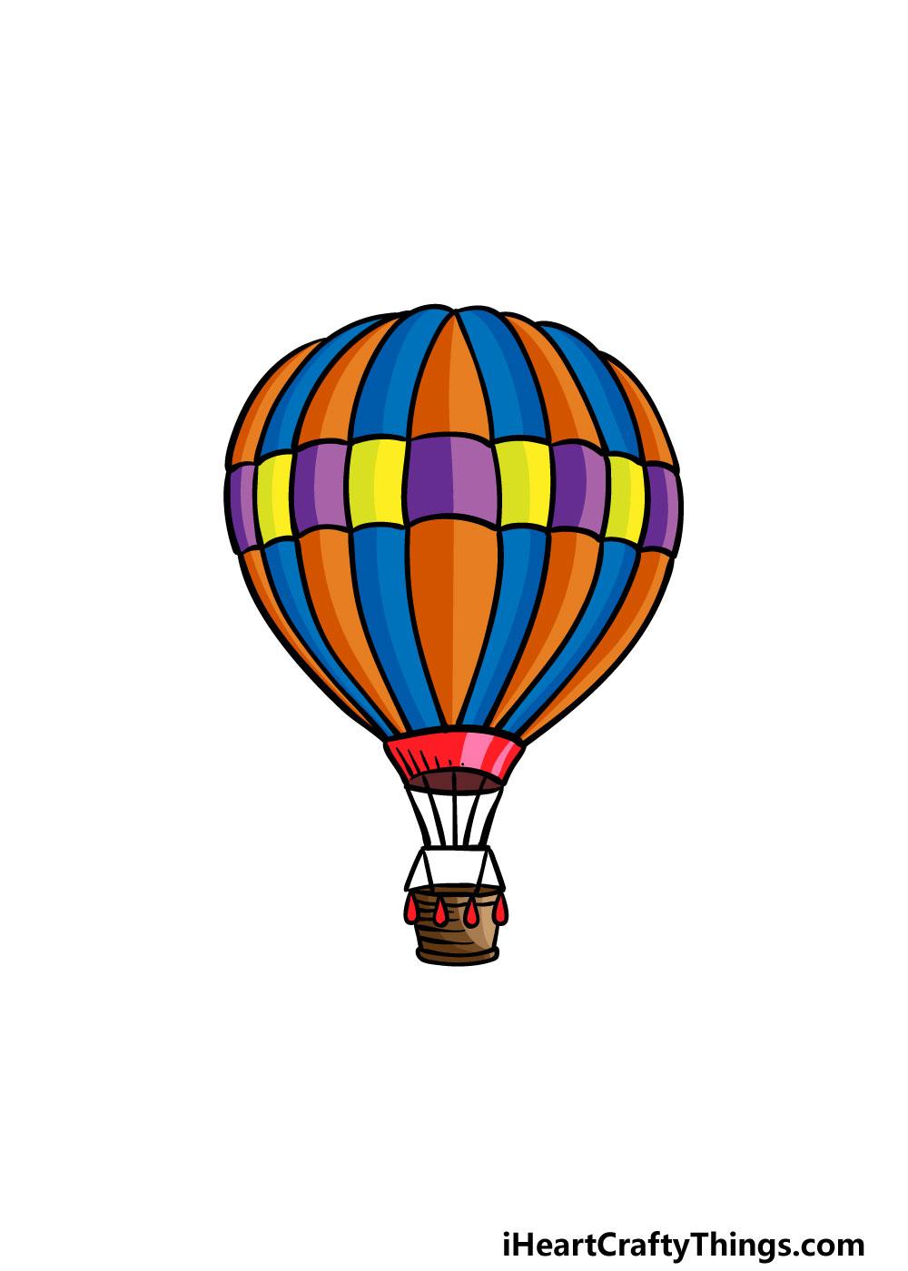 drawing a hot air balloon step 8