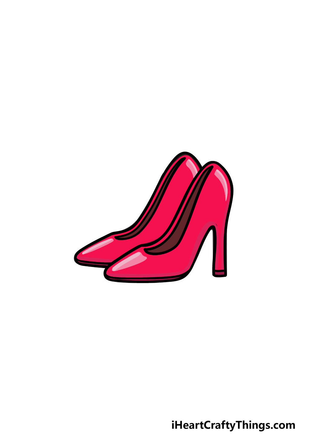 drawing high heels step 8