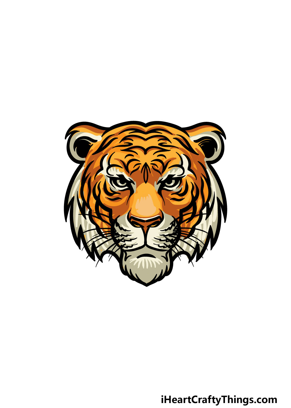 drawing tiger face step 8