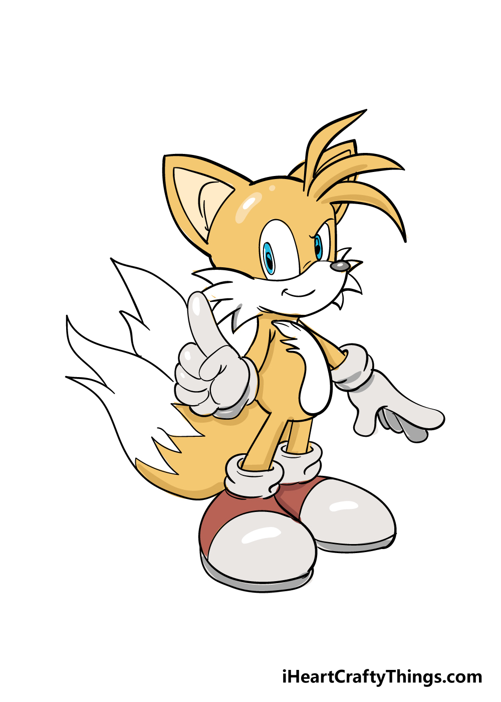 tails drawing step 9