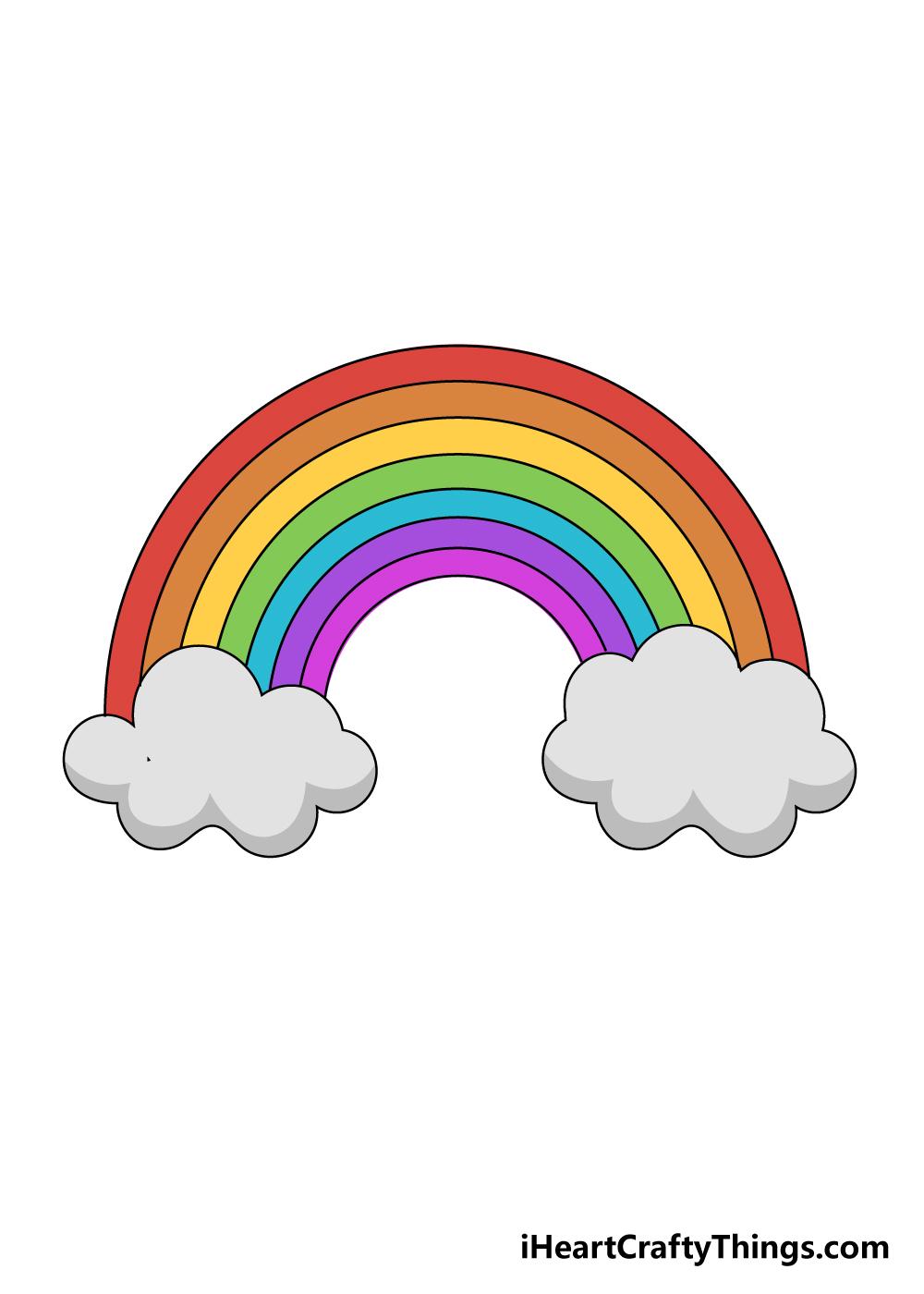 drawing a rainbow step 9