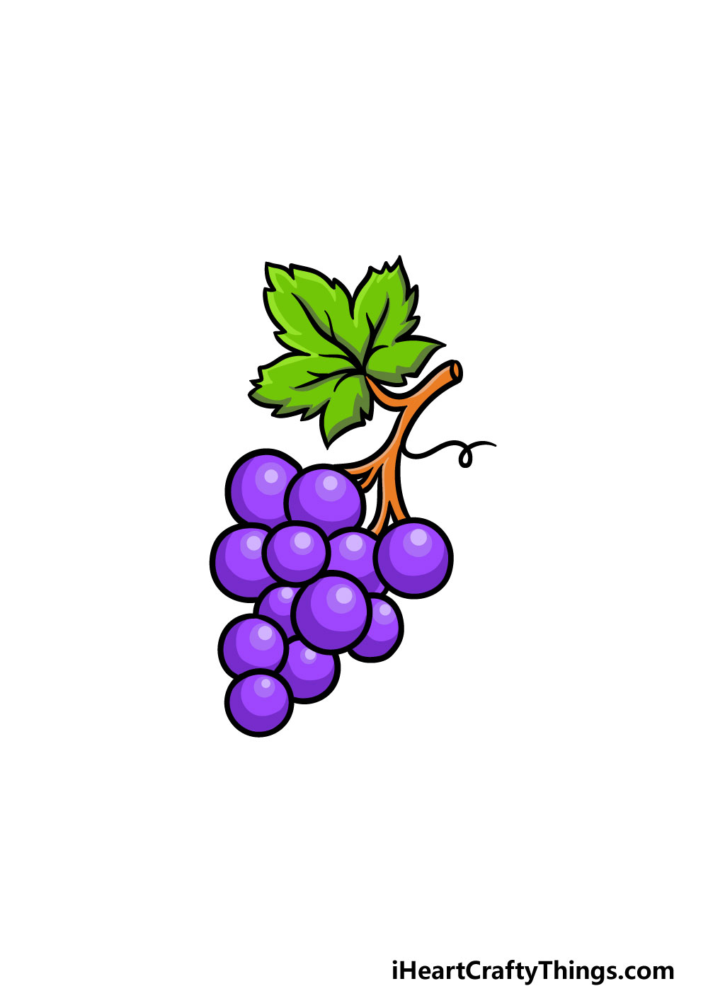 drawing grapes step 9