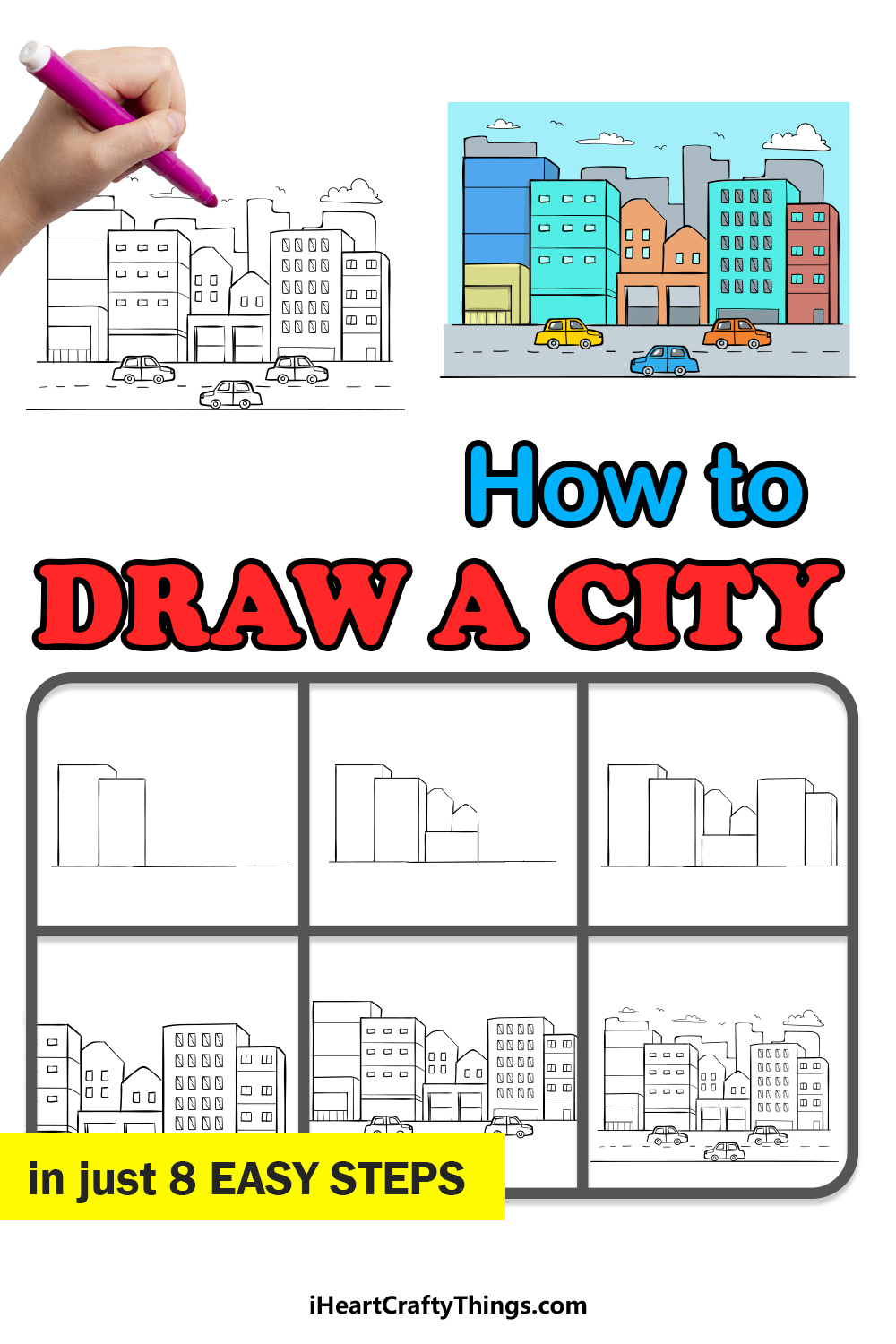 how to draw a city in 8 easy steps