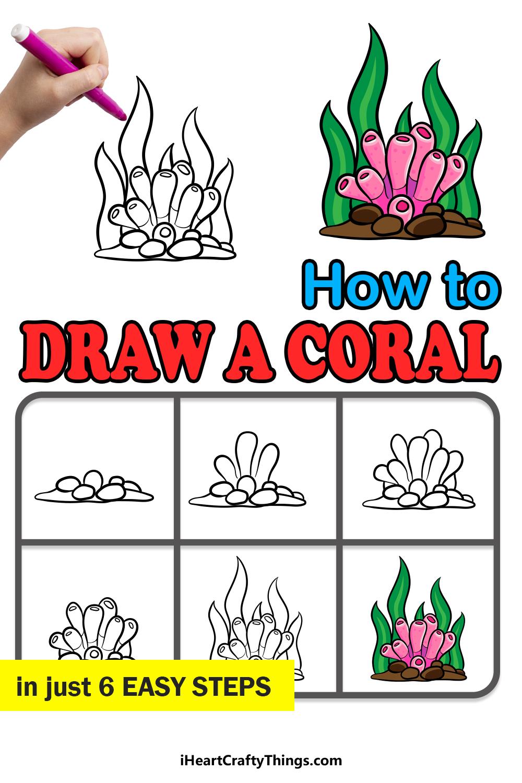 cómo dibujar un coral en 6 sencillos pasos