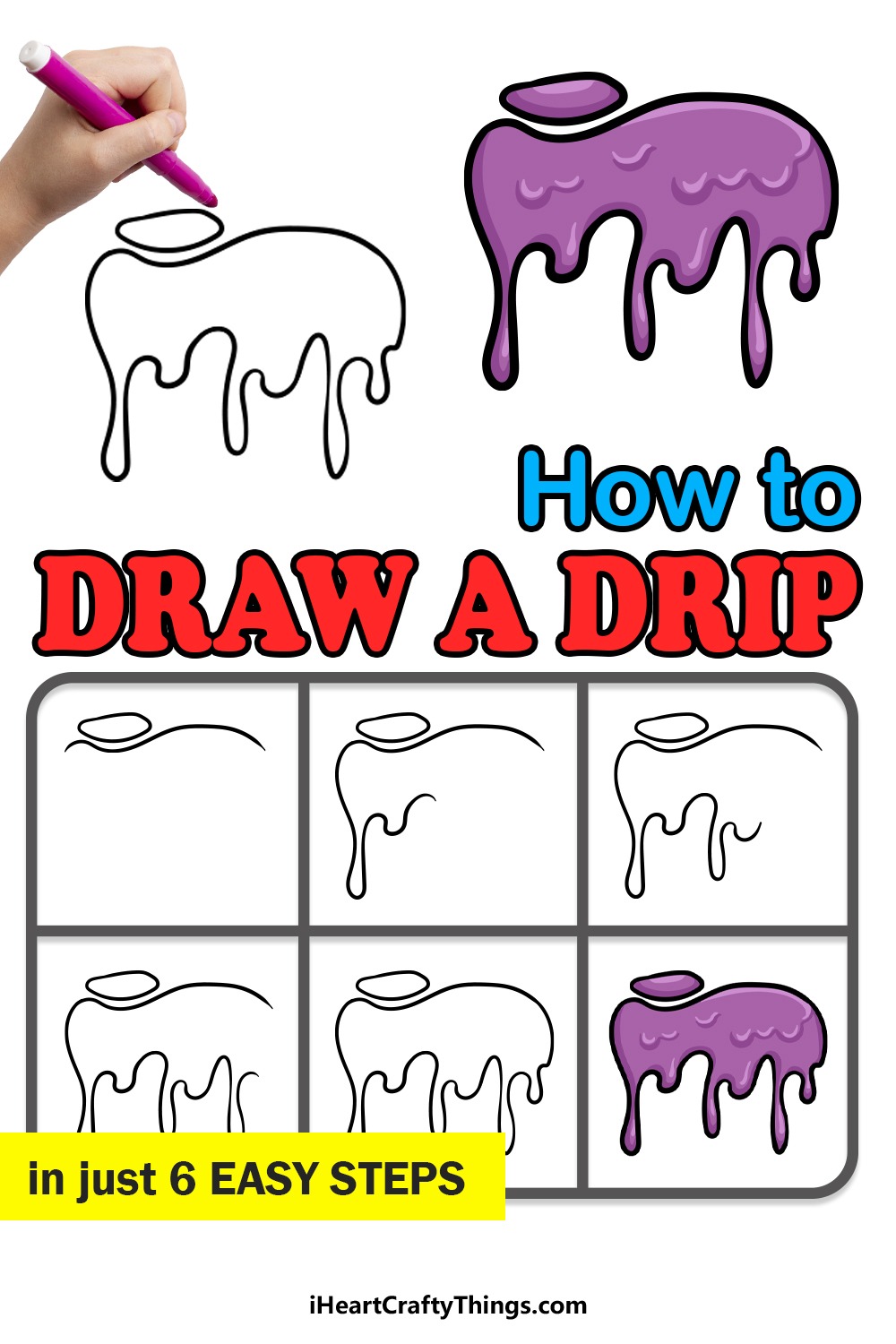 how to draw a drip in 6 easy steps