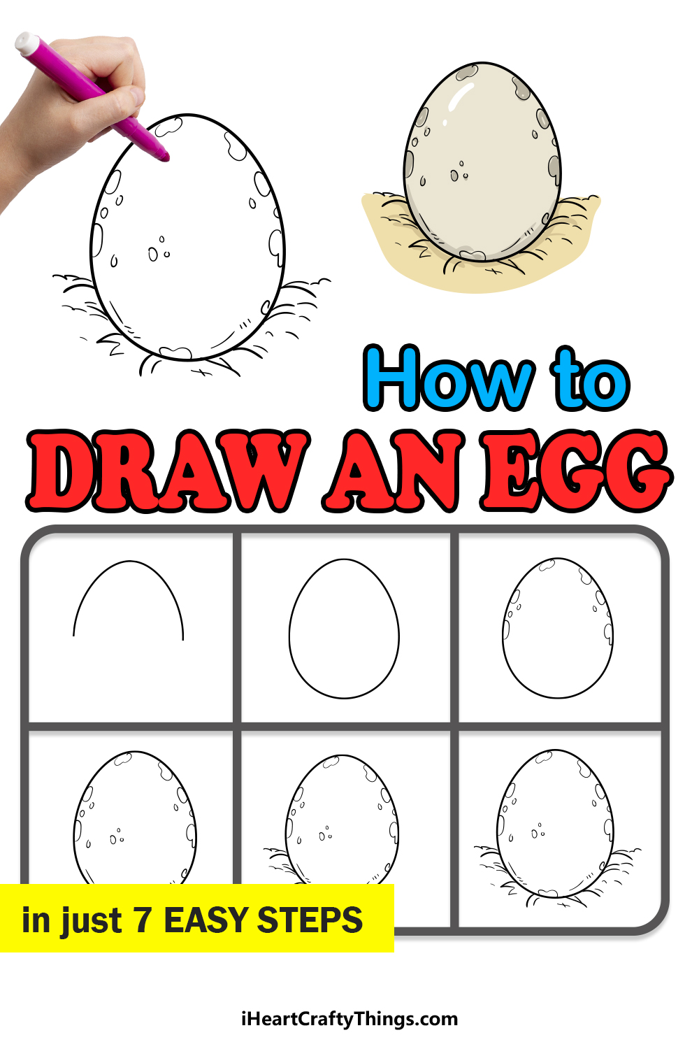 how to draw an egg in 7 easy steps