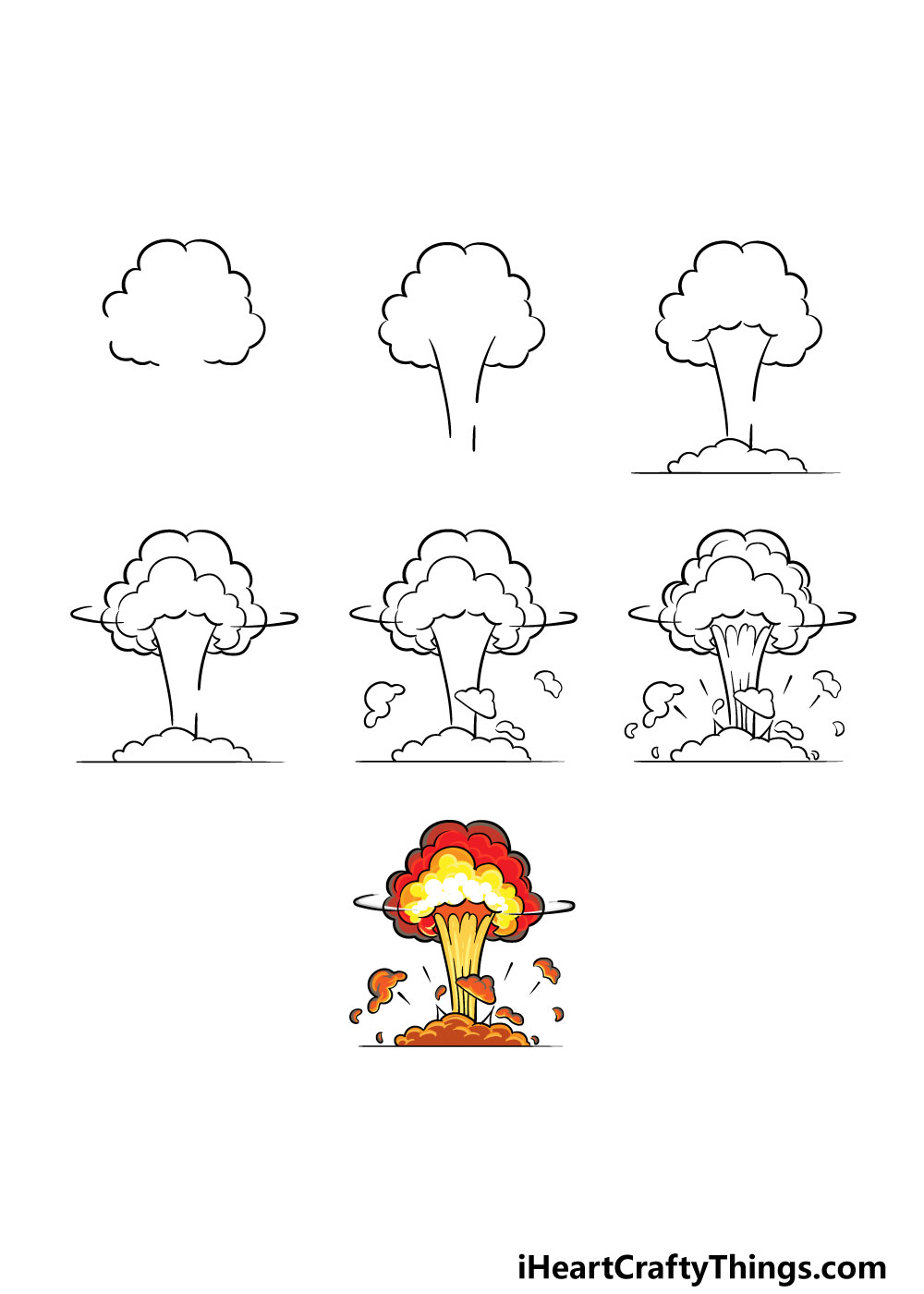 how to draw an explosion in 7 steps