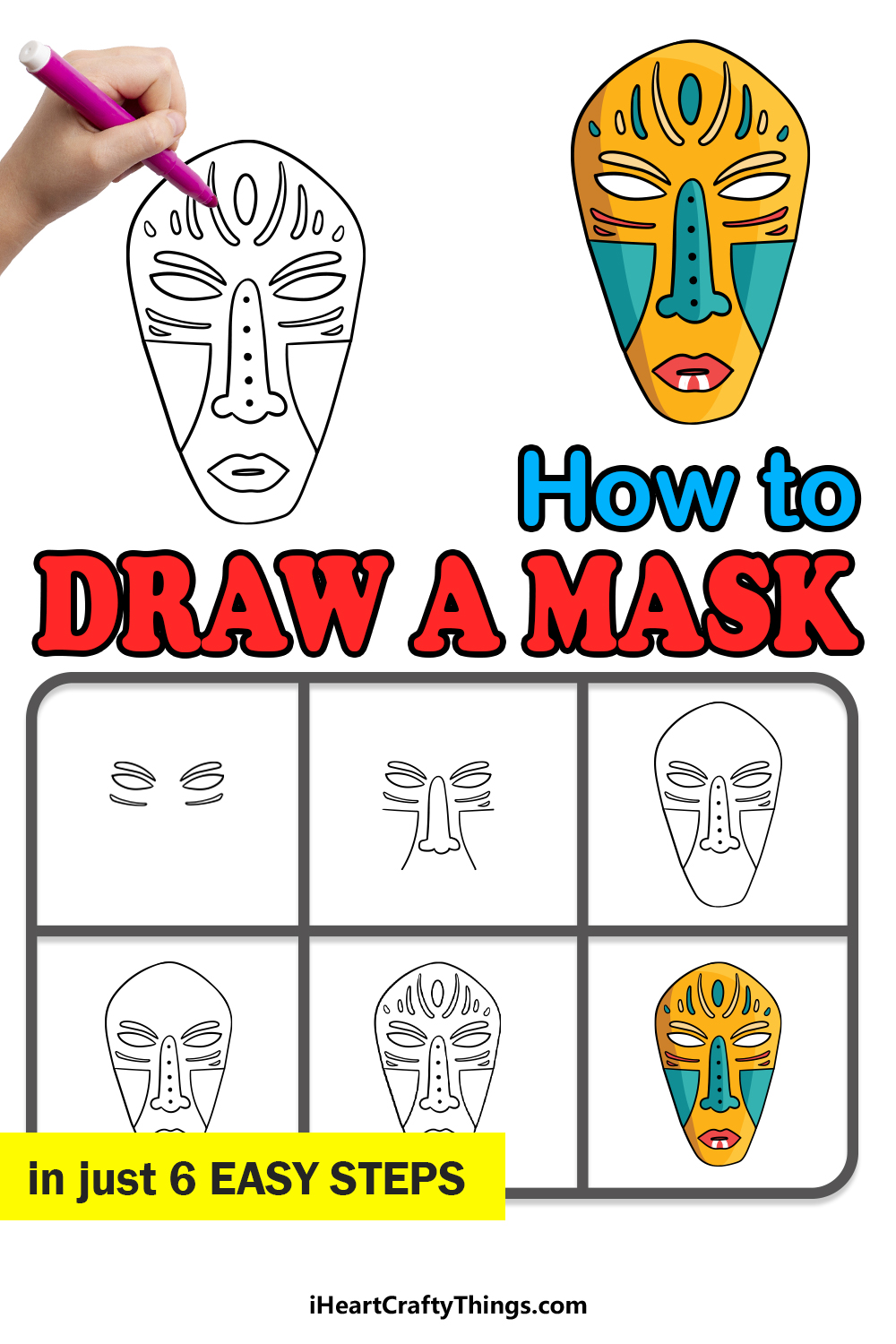 how to draw a mask in 6 easy steps