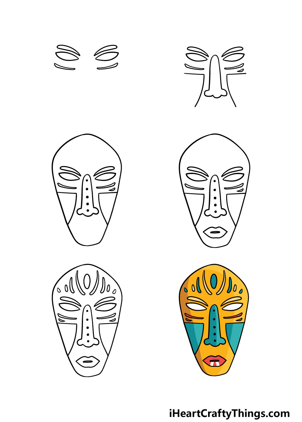 how to draw a mask in 6 steps