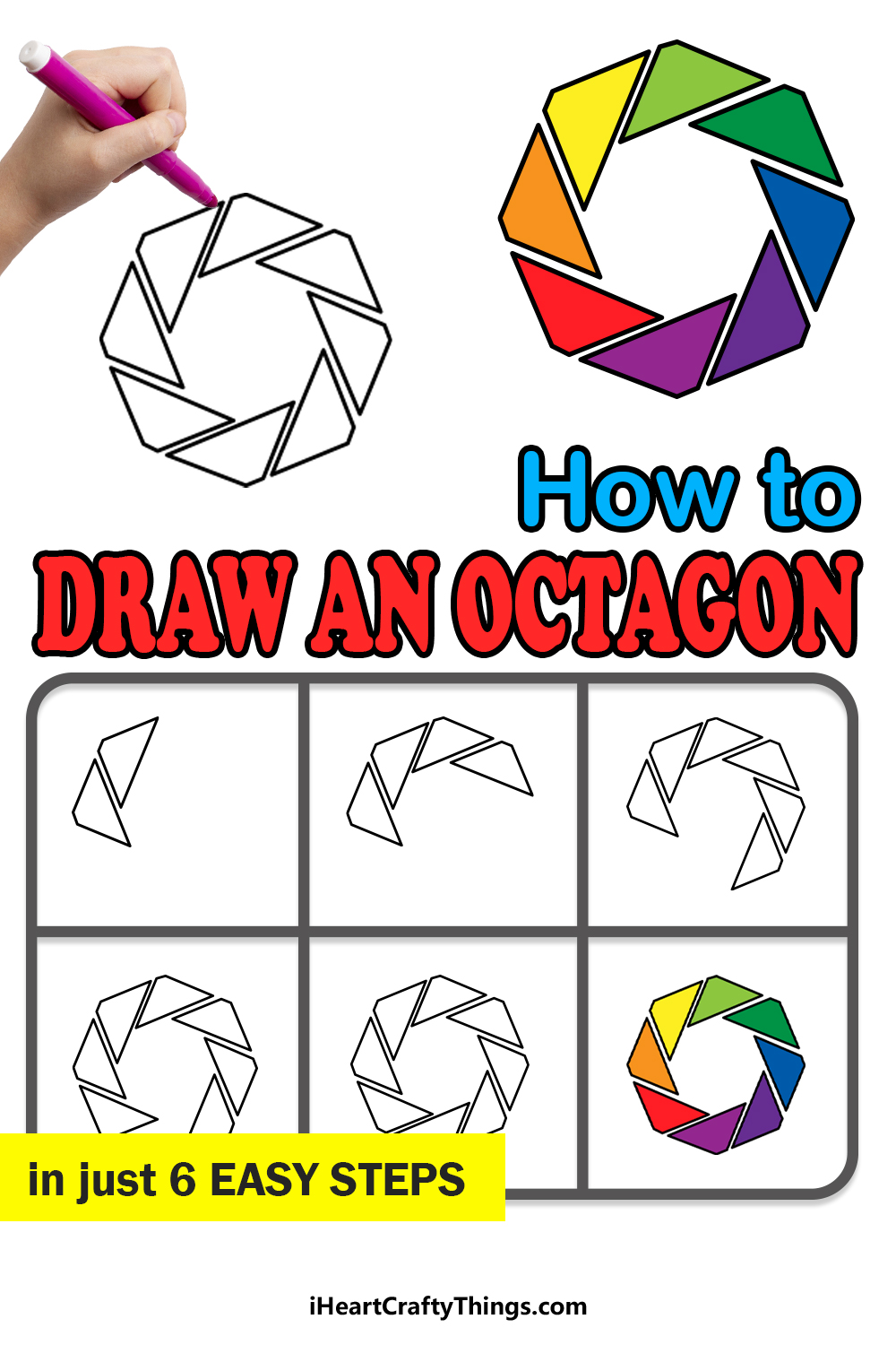 how to draw an octagon in 6 easy steps