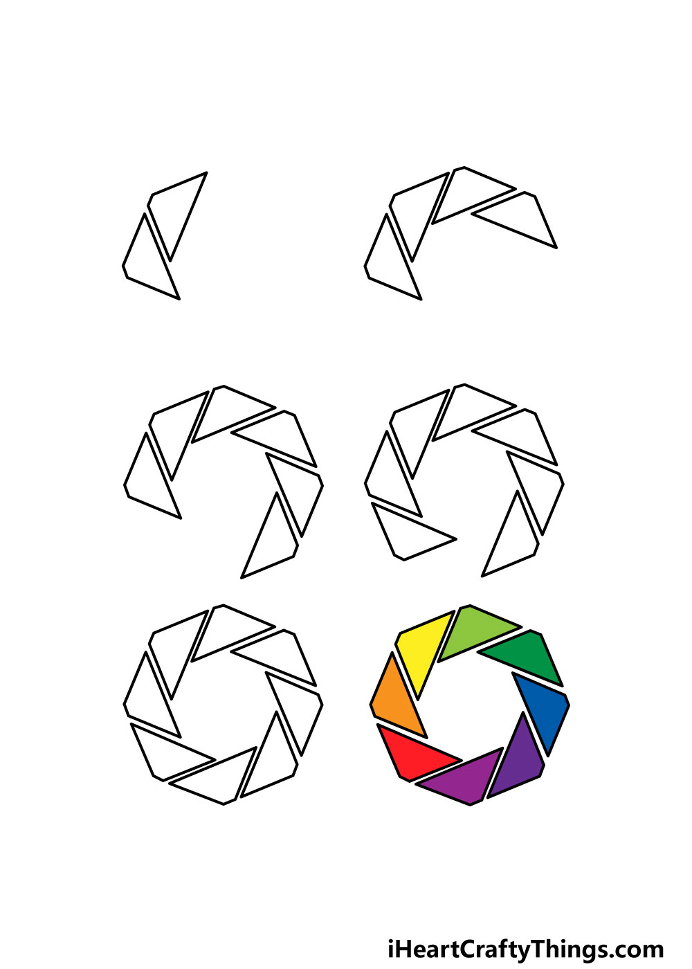 how to draw an octagon in 6 steps