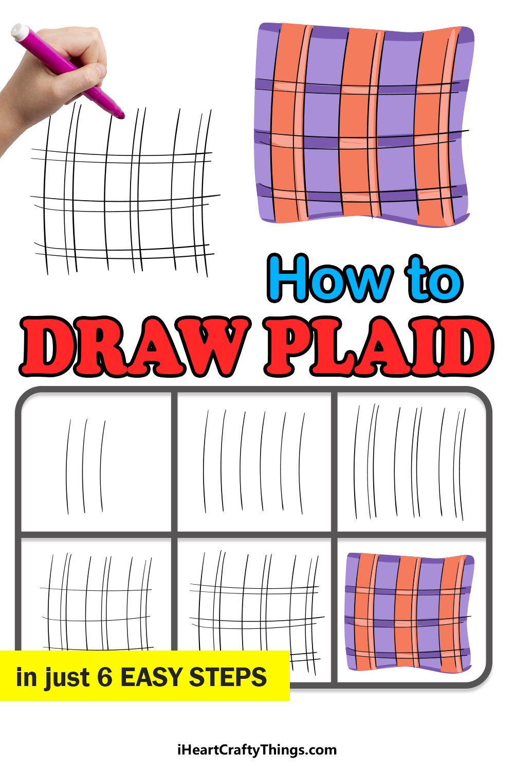 how to draw plaid in 6 easy steps