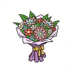 how to draw a bouquet of flowers image