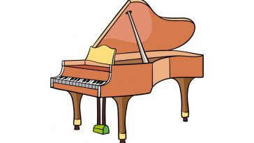 how to draw a piano image