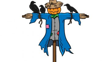 how to draw a scarecrow image