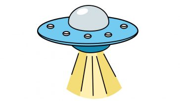 how to draw a UFO image