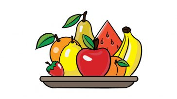how to draw fruits image