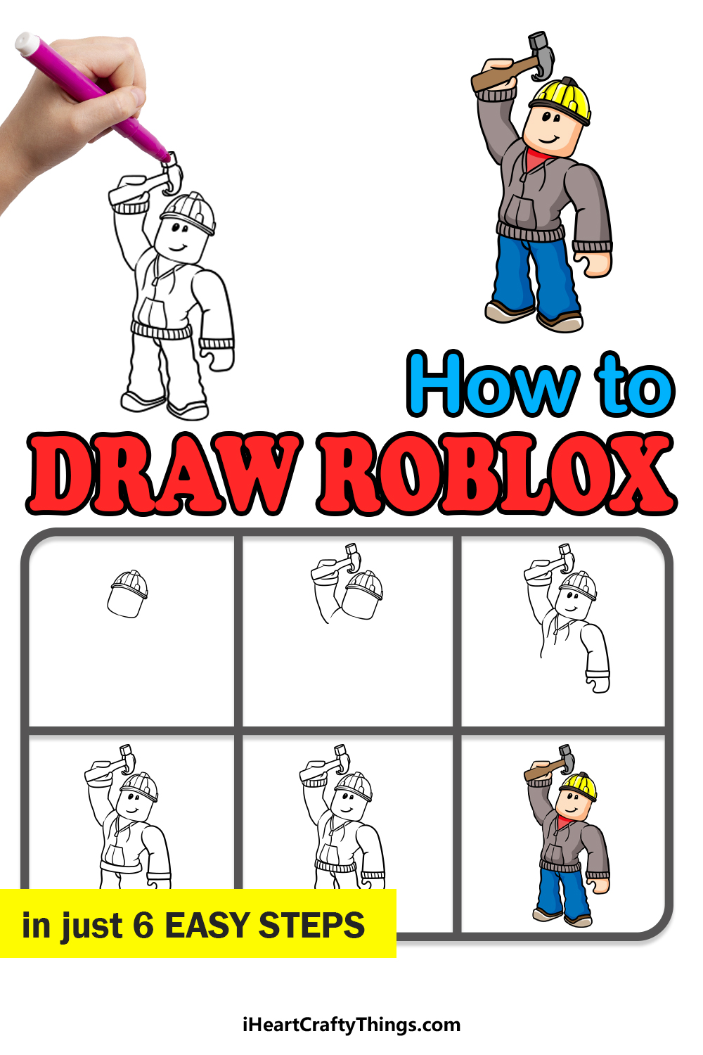 how to draw roblox in 6 easy steps