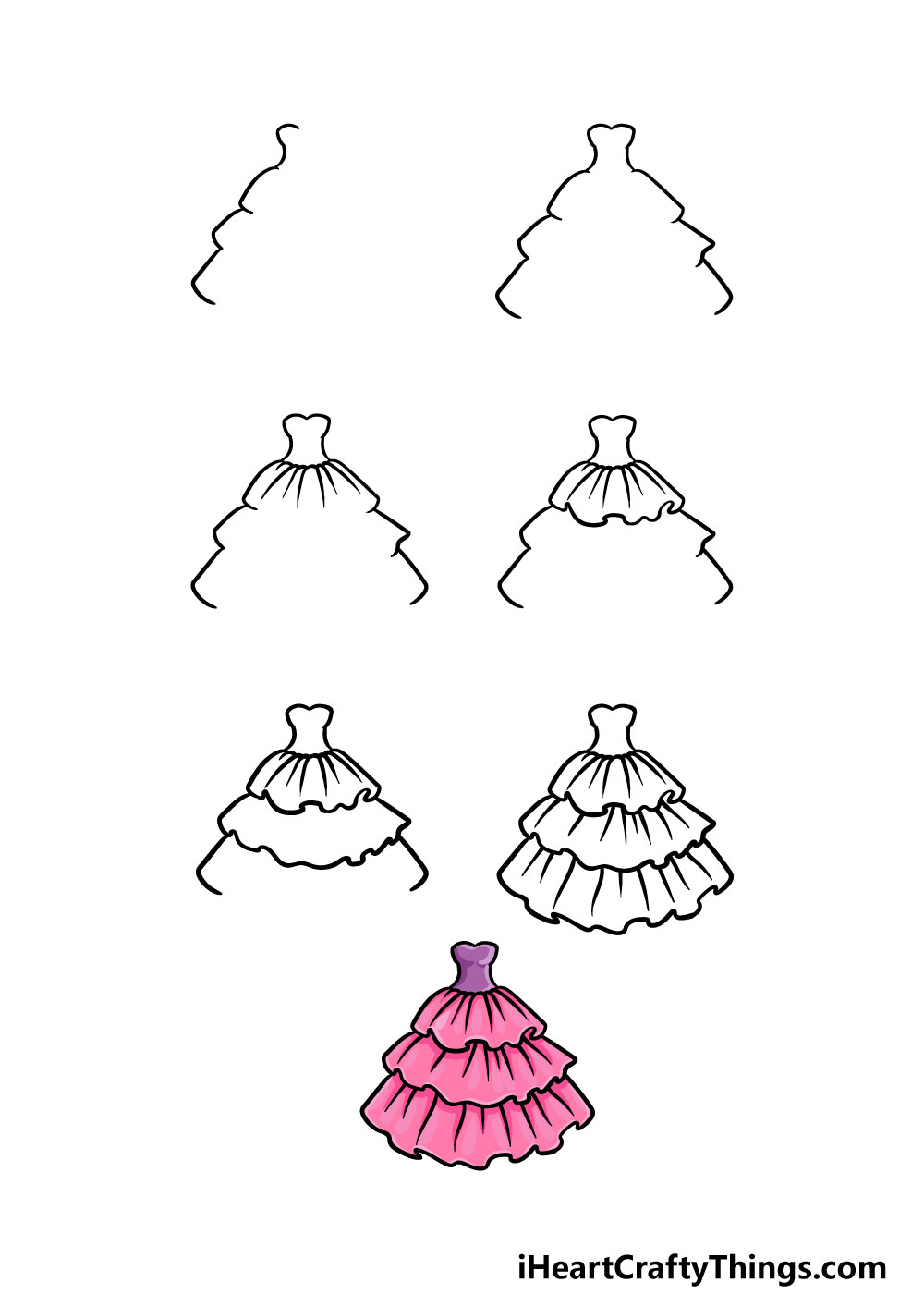 how to draw ruffles in 7 steps