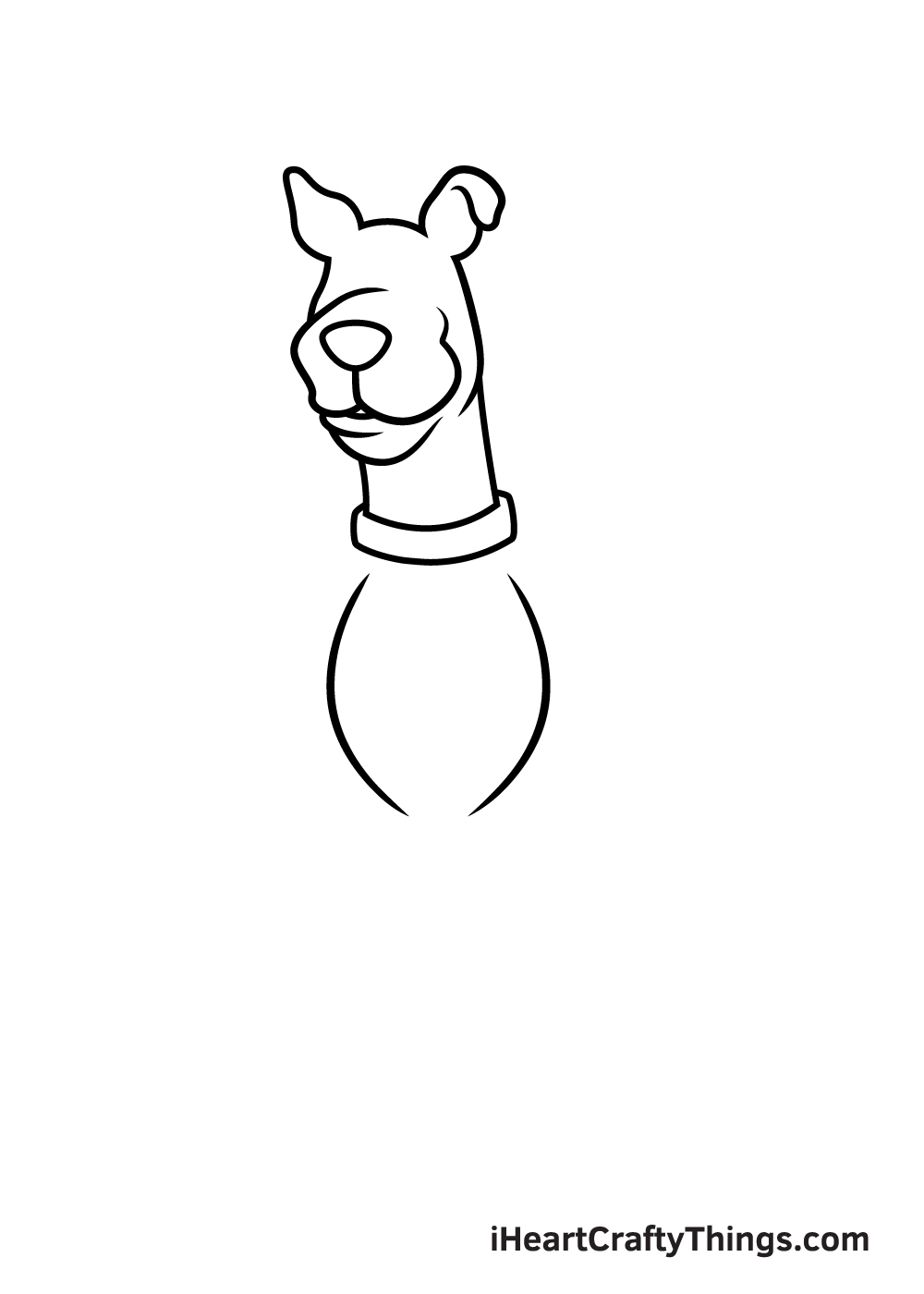 drawing Scooby-Doo step 5